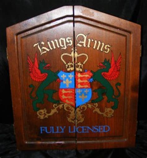 vintage 1980s arms wood dart cabinet board w