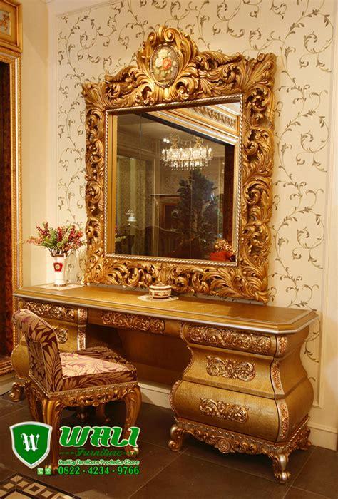 Meja Rias Cantik meja rias mewah ukir jepara cantik warna emas wali furniture
