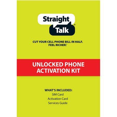 straight talk att compatible nano sim activation kit walmartcom