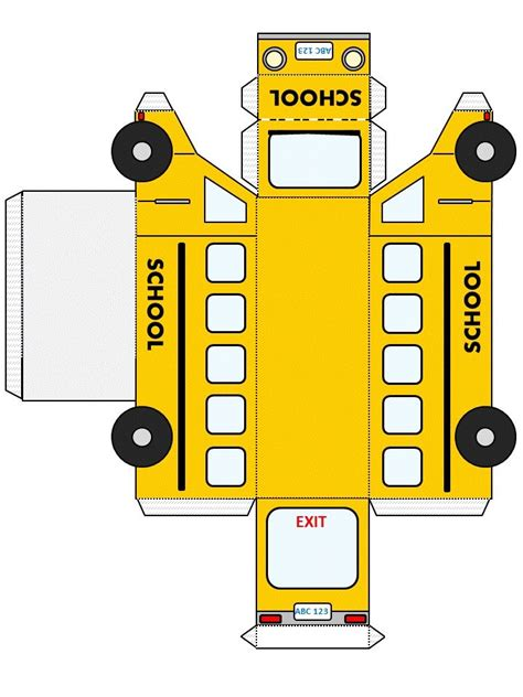 school bus template from http www dltk kids com fun