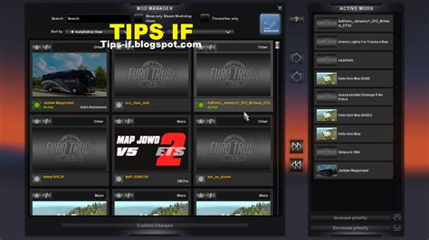 cara memasang mod game ets 2 cara menggunakan mod map ets 2 indonesia tips if