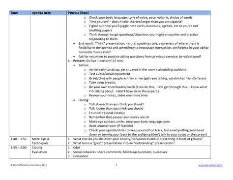 presentation outline templates how to print handouts