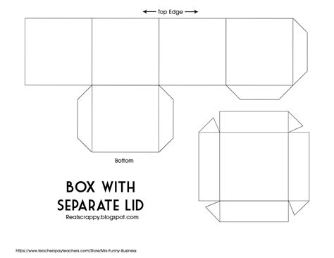 printable box template with lid real scrappy digital scrapbooking from start to finish