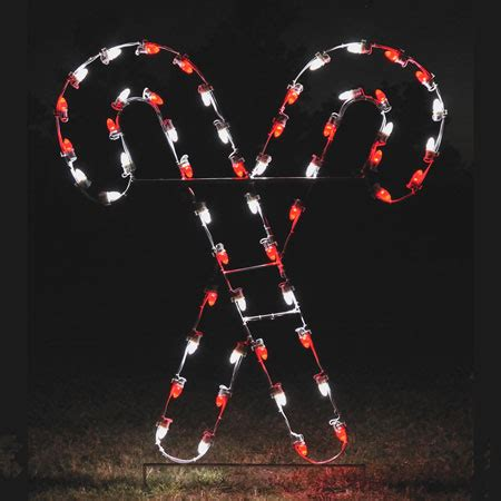 santa land here lighted sign led crossed canes christmasnightinc com 5