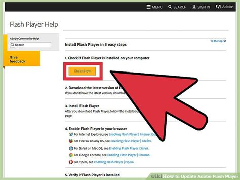 Update From La by 6 Ways To Update Adobe Flash Player Wikihow
