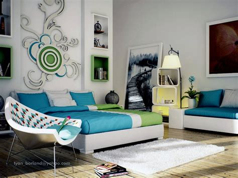 green and blue bedroom green blue white contemporary bedroom design interior