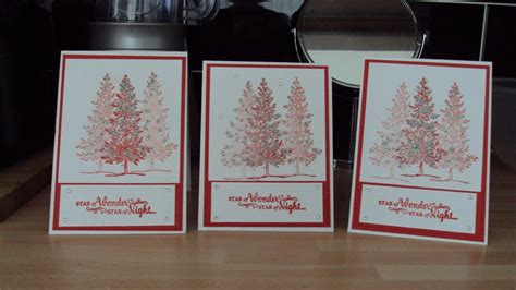 lovely   tree christmas card stampinup youtube
