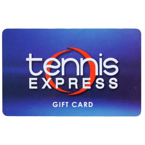 tennis express gift card in blue - Tennis Express Gift Card