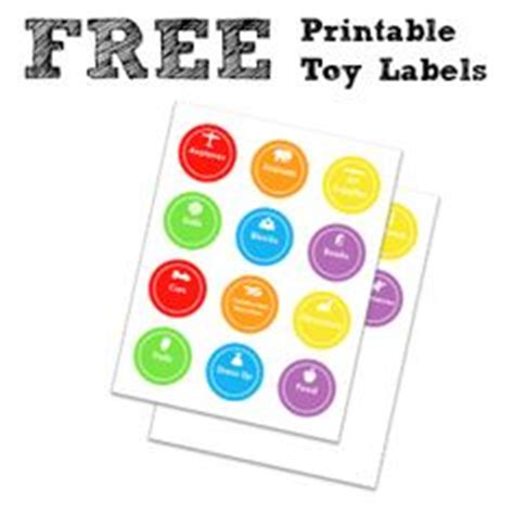 printable toy clock toy labels on pinterest toy bin labels toy room