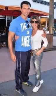 Paula Abdul Still Has A Boyfriend by Paula Abdul Looks Overjoyed As She Kisses And Cuddles Up
