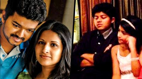 tamil actor vijay and family photos actor vijay family photos with wife son daughter sister