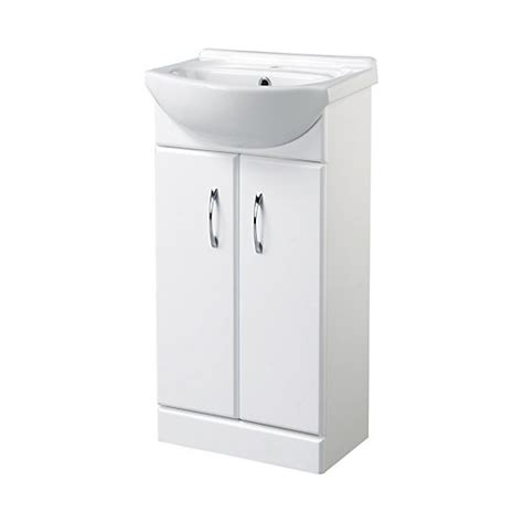 Wickes Cloakroom Vanity Unit Gloss White 425mm Wickes Co Uk Wickes Bathroom Vanity Units