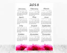 Tonga Calendrier 2018 A1 Wall Calendar Etsy