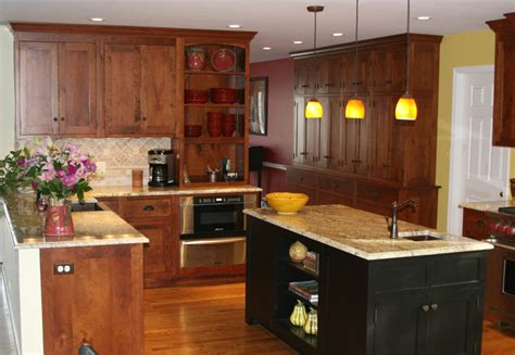 cherry and black kitchen cabinets all home design ideas