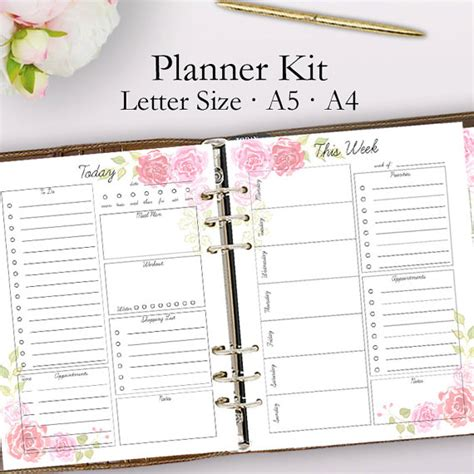 2018 planner weekly and monthly a year of grace christian calendar schedule organizer and journal notebook with inspirational quotes and floral cover books 2018 planner printable daily planner pages weekly planner