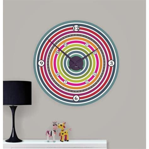 children s clocks funky colour wheel clock may