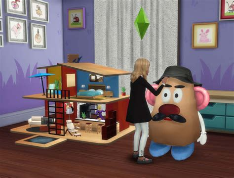 sims 4 dollhouse sims 4 large toys dollhouse and mr potato pqsim4