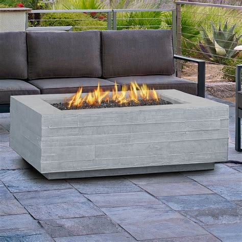 Outdoor Firepit Table Real Board Form Propane Outdoor Pit Table Reviews Wayfair