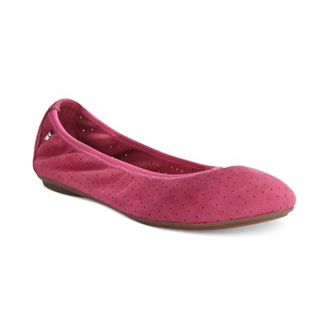 hush puppies ballet flats hush puppies womens chaste ballet flats in pink lyst