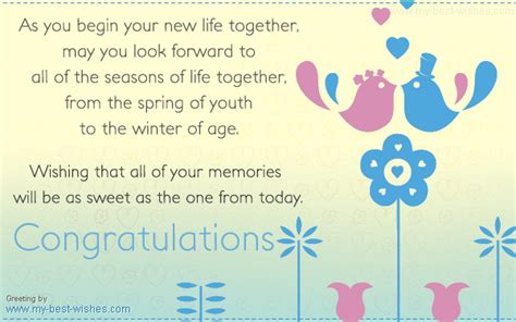 Marriage Gift Card Message - wedding wishes greetings send wedding e card wish happy life together