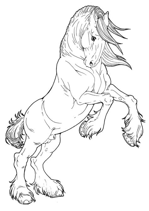 big coloring pages of horses clydesdale stallion by applehunter deviantart com on