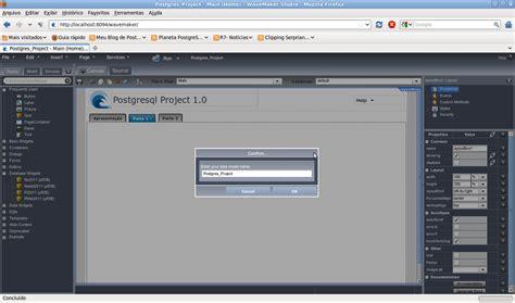 tutorial wavemaker meu blog de postgresql desenvolva suas aplica 231 245 es de