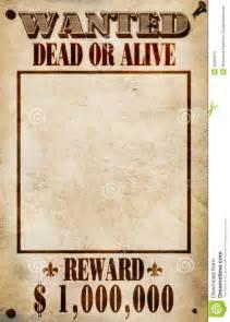 wanted poster dollar reward stock photos image 25093973