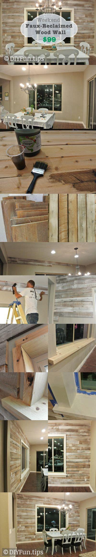 diy faux reclaimed wood wall put   reclaimed wood