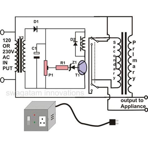 electrical circuit diagram of voltage stabilizer circuit