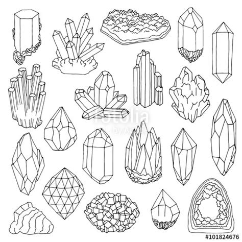 home design how to get free gems quot hand drawn line crystal mineral gem quot stock image and
