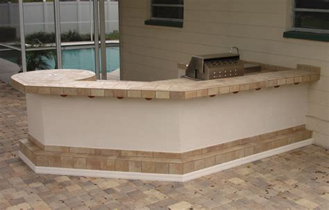 Outdoor Countertop Tile by Outdoor Kitchens Service Repair