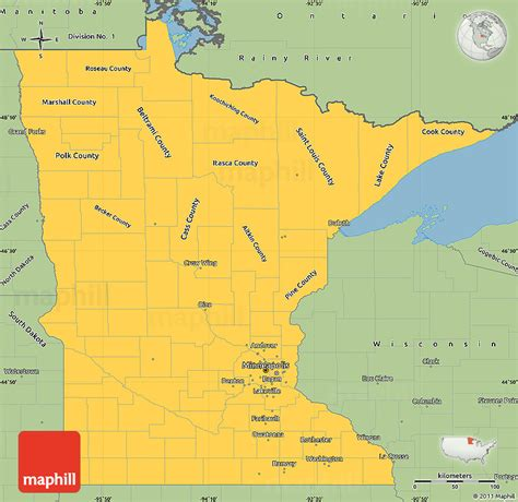 Mn Simple Search Savanna Style Simple Map Of Minnesota