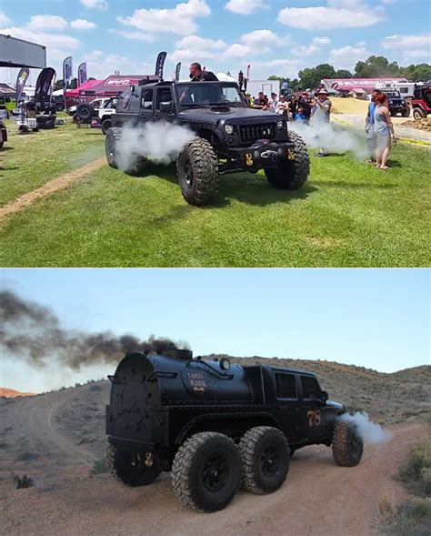 hauk designs steam jeep hauk steam powered jeep has 6 wheels might be craziest