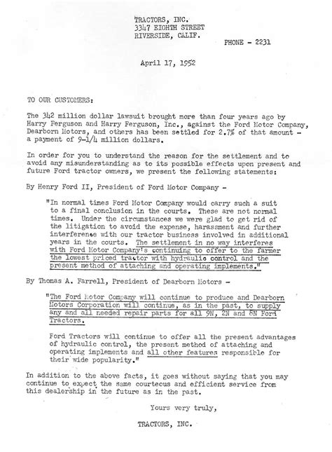 Complaint Letter To Ford Motor Company Ford Lawsuit Autos Post