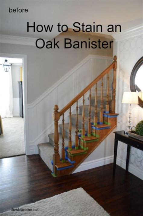 oak banister makeover how to stain an oak banister banisters and staircases