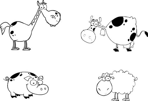 printable animals for toddlers coloring pages farm animal color pages farm animals