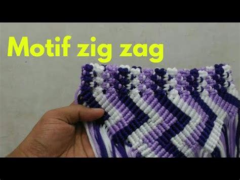 tutorial tas tali kur motif zig zag tas tali kur motif zigzag youtube