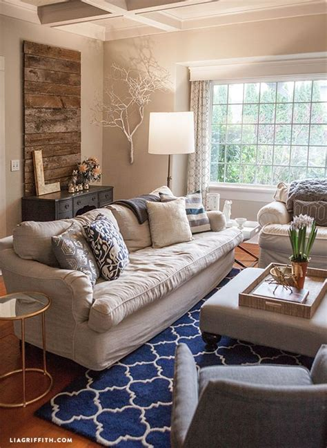 my home tour living room in navy and gold fall on navy blue and yellow living room ideas grey