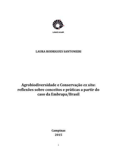 Agrobiodiversidade e Conservação ex situ: reflexões sobre