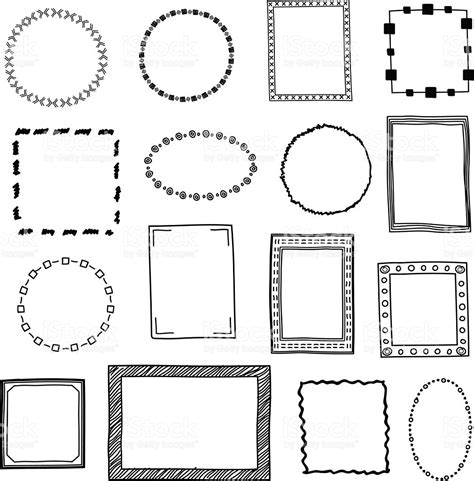 doodle frame vector free doodle frames borders vector set stock vector