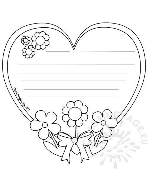heart template coloring page lovely heart template for writing gallery resume ideas