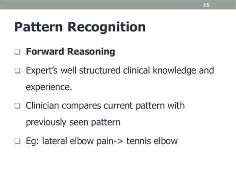 pattern recognition clinical reasoning clinical reasoning in physiotherapy