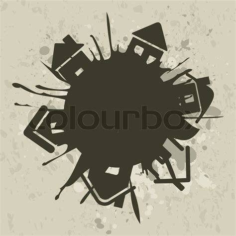 house planet house planet stock vector colourbox