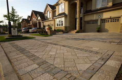 Paving Stones Toronto Custom Landscaping Toronto Interlock Driveway And Patio