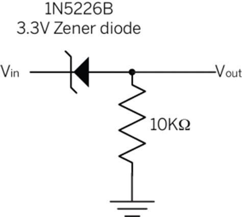 schottky diode level shifter facile arduino