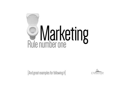 one rule marketing rule number one and two