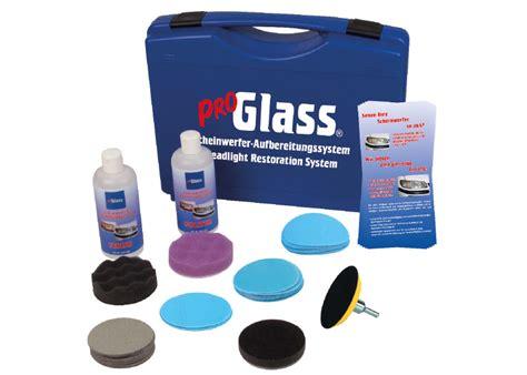 Polycarbonat Scheiben Polieren by Proglass Scheinwerfer Aufbereitungssystem Komplettset Im