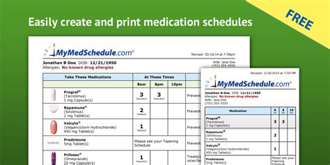 Need Help Organizing Your Medication List Synerxgy Consulting Llc Pharmacist Schedule Template