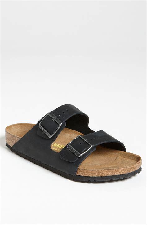 birkenstock designer sandals birkenstock arizona leather sandals in black in