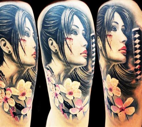 samurai tattoo with geisha samurai woman tattoo by tattoo rascal geisha tattoo and